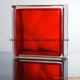 Colore rosso Blcok di vetro per la parete