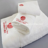 100% Knitting machine Cheap Embroider White Hotel Bath Towels for Bathroom