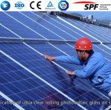 Vidro solar Tempered do revestimento Anti-Reflexivo para o painel solar