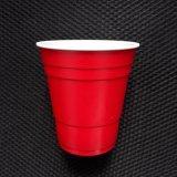 Copo de solo do partido do vermelho americano plástico descartável direto da venda por atacado 9oz 250ml PP da fábrica
