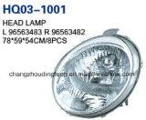 Chevrolet Matiz'01 II/불꽃을%s 고품질 헤드 램프 정면 램프. OEM: 96563483/96563482