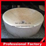 浴室の自然な大理石の石造りの容器の洗面器