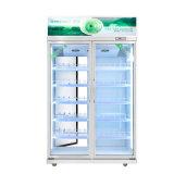 Supermercado vertical bebidas refrigerantes//Sumo Exibir Frigorífico com Duplo Lado Aberto