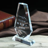 Souvenir Crystal Trophy Glass Plaque Craft for Businness Gifts