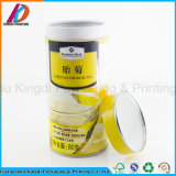 Tapa de estaño impresos personalizados de tubo de papel para embalaje de té