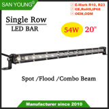 20pouce 54W barre lumineuse à LED 4X4 Offroad CREE Light Bar