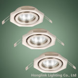 Octagon Shape를 가진 조정가능한 GU10 MR16 Recessed Ceiling Downlight Fixture