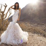 인어 수정같은 Organza 신부 드레스 결혼 예복 (BH012)