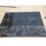La pierre naturelle mosaïque de marbre noir