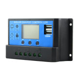 30A 12V/24V PWM se doblan el regulador Cm20K-30A de la batería del panel solar de USB-5V/3A