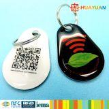 Impressão de código de barras RFID MIFARE Classic 1K Epoxy keychain Key tag