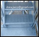 외부 금속 계단 외부 계단 금속 단계