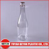 Bouteille d'animaux en plastique en forme de bouteille de vin 450 ml avec bouchon en aluminium