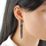 Ювелирные изделия серьги Tassel цвета повелительниц серые покрынные длинние
