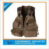 Venda Por Atacado Custom Men Fishing Wear Safari Vest com Multi Pockets