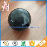OEMの楕円形の堅いシリコーンの固体ゴム製適性の球/円形の振動網のクリーニングのゴム球