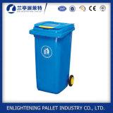 Escaninho Waste plástico do uso ao ar livre com a roda para a venda