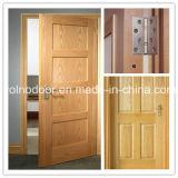 Porte solide avec le prix de Competity/la porte en bois de bois de construction