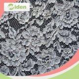Patrones de tejido de poliéster 100 indios del cordón del bordado de la tela neta