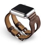 Cinturino di vigilanza all'ingrosso del Apple del cuoio del caffè delle cinghie di prezzi 38mm di ultimo disegno doppio 42mm