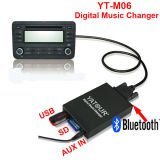 Professional Yatour YT-M06 para Volkswagen Car Kit Radio MP3>USB/SD/AUX en el reproductor de música digital Bluetooth Changer