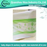 기저귀 Backsheet를 위한 아기 기저귀 원료 짠것이 아닌 센터에 의하여 박판으로 만들어지는 필름