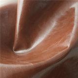 Маслообразная и Waxy скомканная кожа мебели PVC тканиь дома картины
