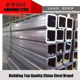 Structure du tuyau carré en acier galvanisé de matériaux de construction
