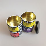 Round Twisted 3piece Package Tin Box 85mm Diâmetro