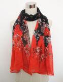 Шарф весны повелительницы Цветка Printed Полиэфира Маркизета Silk (YKY1050)
