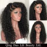 Perruques bouclées brésiliennes de cheveux humains d'avant de lacet du cheveu 13*6 pour les parties profondes normales de la couleur 6inch de femmes de couleur