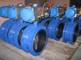 Pneumatische/Eclectische Actuator die van de flens de Klep van /Wcb/Ss304/Ss316/DIN /Asme/ANSI Butterflyu van het Ijzer Iron/Ductile gieten