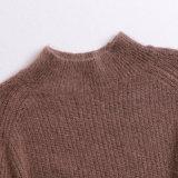 2018 neue Form-Dame-Wolle-Strickjacke-Halsausschnitt-lange Hülse für Sprung-Großverkauf