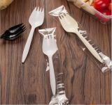 Wegwerfplastikkuchen-Imbiss-Besteck-Gabel-Löffel Spork