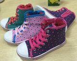 Los últimos niños del diseño ocasionales Mediados de-Cortaron los zapatos de lona de los zapatos de la inyección FF727-1