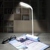 Placa de mensagem Sensor de toque de brilho ajustável com pescoço de cisne flexível LED recarregável USB candeeiro de secretária da luz de leitura
