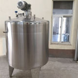 Alimento inoxidável do tanque de aço com misturador do agitador