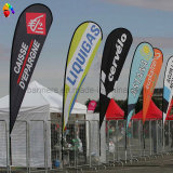 Poliestere 100% Advertizing Drop Banner Flag con il Flagpole Stand