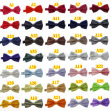 La performance du parti populaire Unisex couleur unie Bowtie Satin 36 couleurs solides en stock