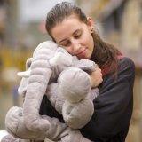 Grand éléphant Soft animal en peluche des jouets en peluche, gris, 24 pouces/60cm