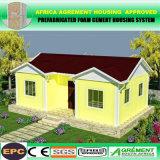 Bequemes Schlagbiegefestigkeit-Luxuxfertighaus/fabrizierte Häuser für Costa Rica vor