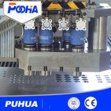 Punzonadora del CNC del orificio del acoplamiento de la pantalla con la plataforma que introduce