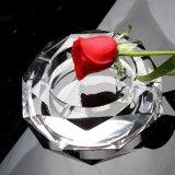 Het duidelijke Asbakje van de Sigaar van het Glas van het Kristal van de Achthoek voor de Decoratie van het Bureau