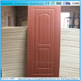 La madera dirigida/natural de Sapeli chapeó la piel moldeada de la puerta de la madera contrachapada