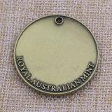 Andenken-kundenspezifischer Metallschädel-Decklack geprägte Münze