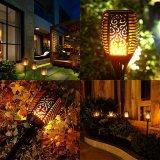 Llama vacilante de la luz solar linterna 96 LEDs con Stick para exteriores