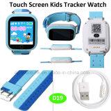 2g/GSM GPS van het Kind/van de Jonge geitjes van de veiligheid de Draagbare Drijver van het Horloge met Pedometer D19
