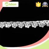 Cordón de la tela del cordón del bordado del algodón el nuevo diseña el cordón geométrico