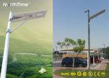 Auto on/off tout-en-un conduit de lumière solaire rue avec capteur de lampe