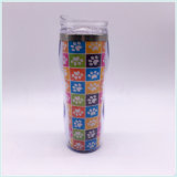 Taza de viaje de plástico de doble pared con papel de insertar (SH-PM13).